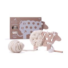 Les Jouets Libres Woody Fädelschaf Fädelspiel Ökospielzeug nachhaltig Fair Trade - zuckerfrei | Kids Concept Store