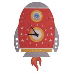 Wanduhr Rakete Kinderuhr - zuckerfrei | Kids Concept Store