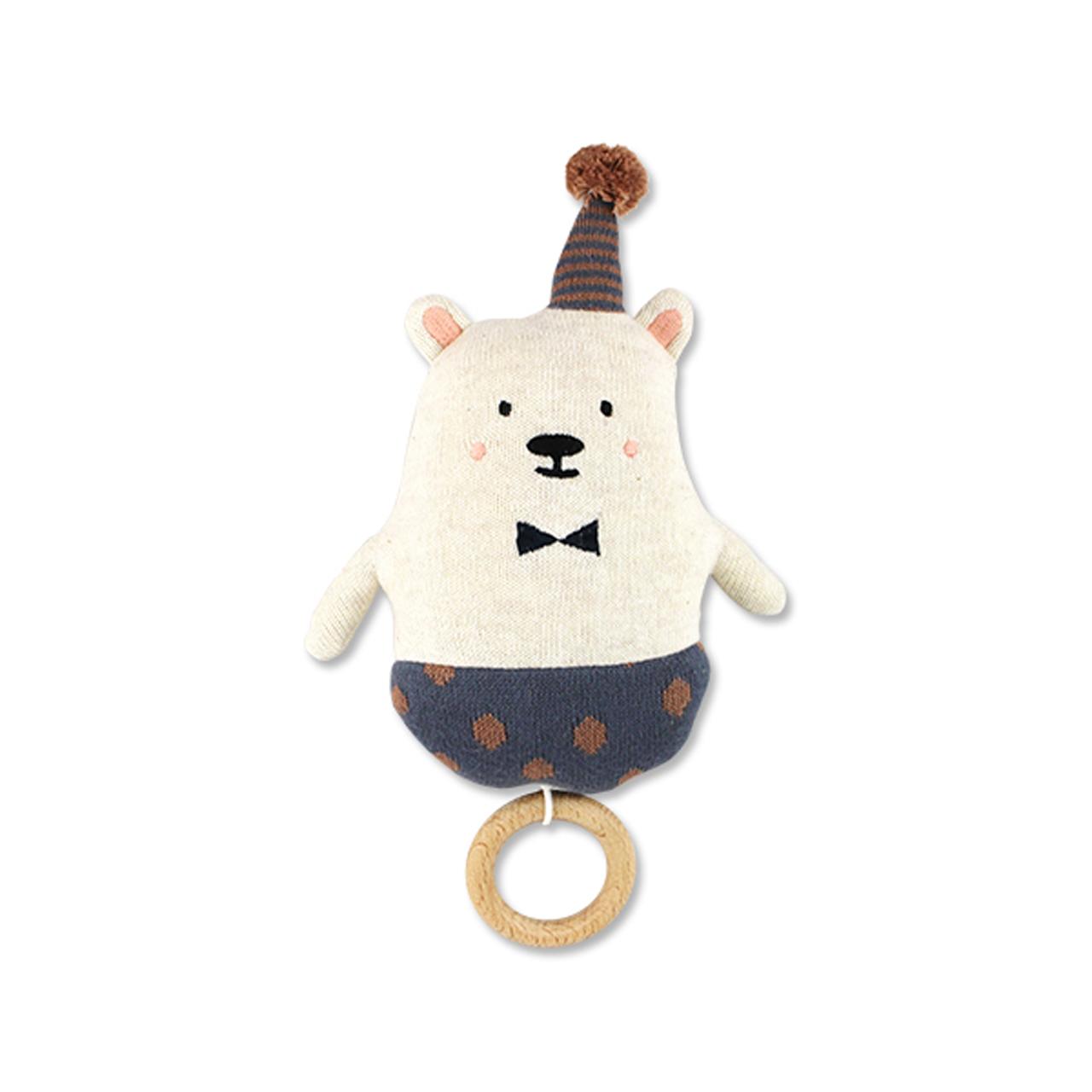 Ava&Yves Spieluhr Eisbär mit Hütchen Hut Bio-Baumwolle waschbar - zuckerfrei   Kids Concept Store