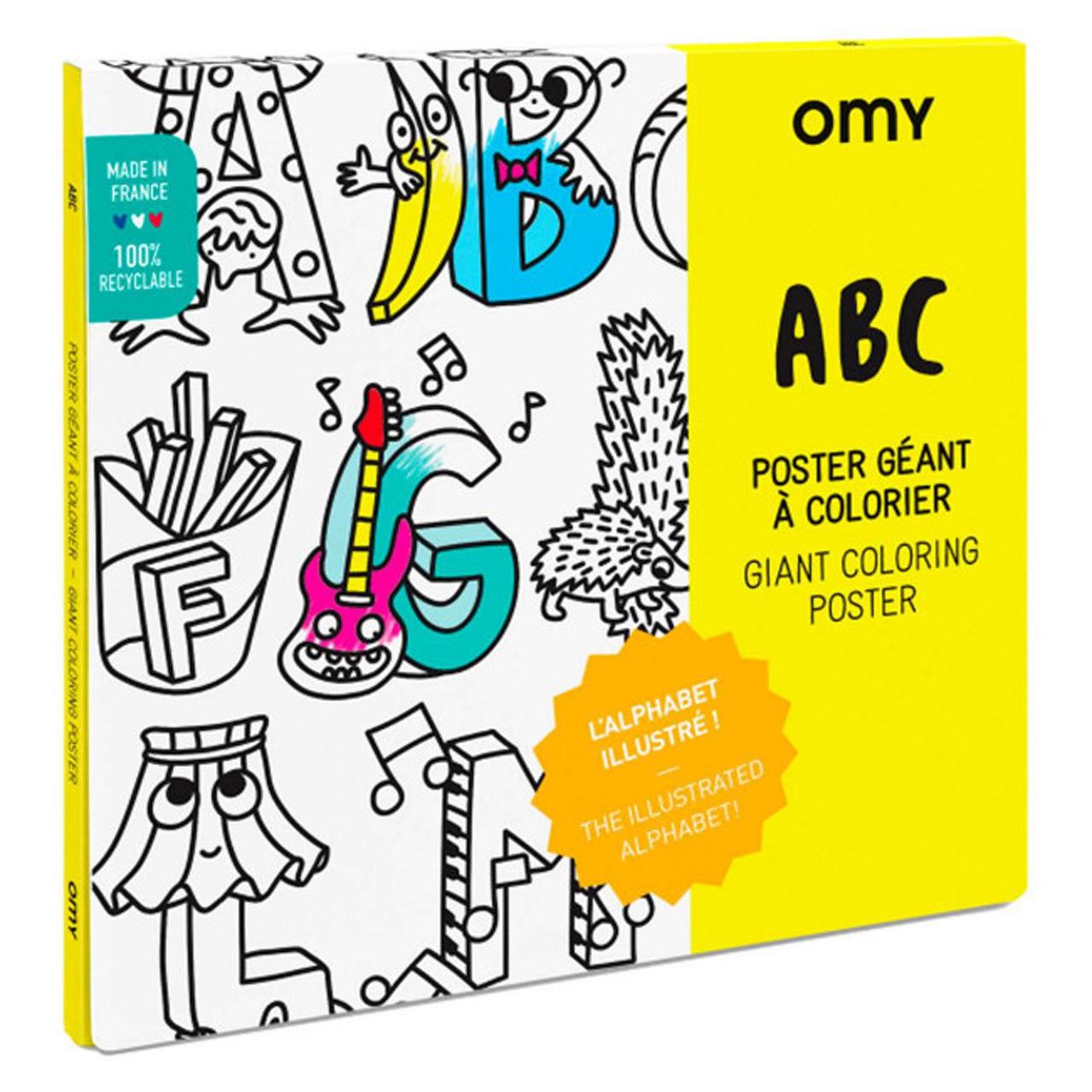 OMY Ausmalposter Deutschland Giant Coloring Poster Germany - zuckerfrei | Kids Concept Store
