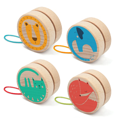 Londji ökologisches Holzspielzeug Yoyo Jo-Jo Fuchs Löwe Elefant Katze Animals- zuckerfrei | Kids Concept Store