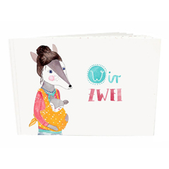 Frau Ottilie Baby-Tagebuch Wir Zwei- zuckerfrei | Kids Concept Store