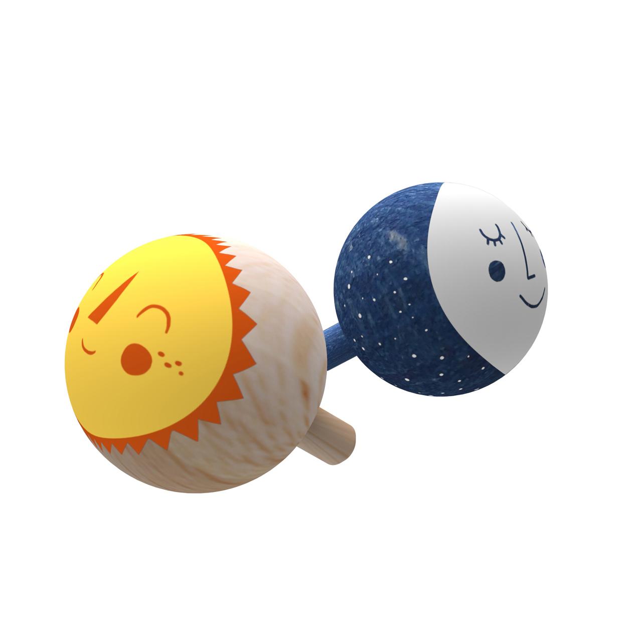 Londji Holz-Kreisel Wendekreisel Stehaufkreisel Umdrehkreisel Little Worlds - zuckerfrei | Kids Concept Store