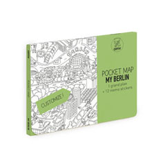 OMY Ausmalstadtplan Berlin Pocket Map - zuckerfrei | Kids Concept Store
