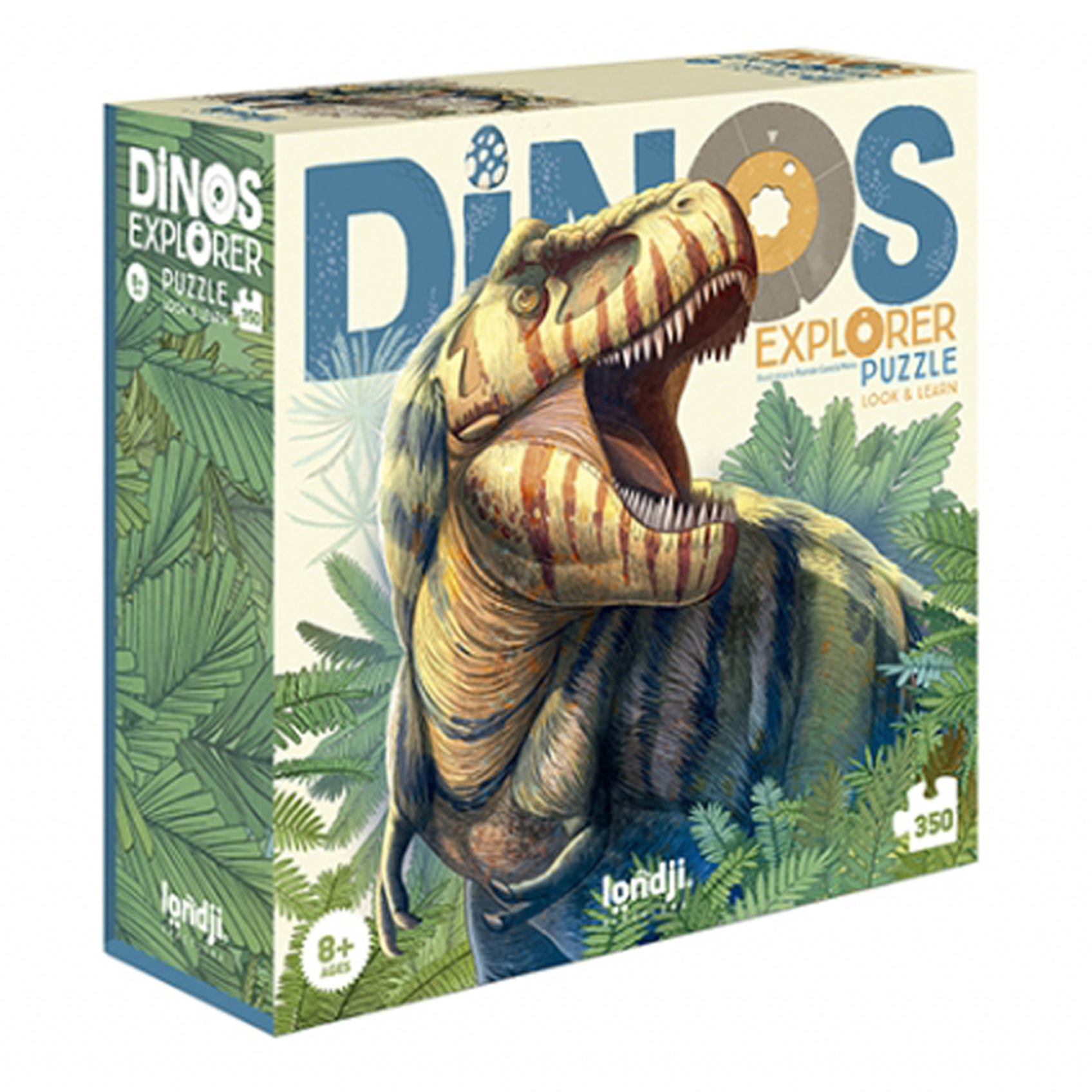 Londji - Discover The Dinosaurs Dinosaurier Puzzle - zuckerfrei | Kids Concept Store