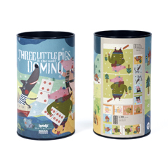 Londji Three Little Pigs Domino - zuckerfrei | Kids Concept Store