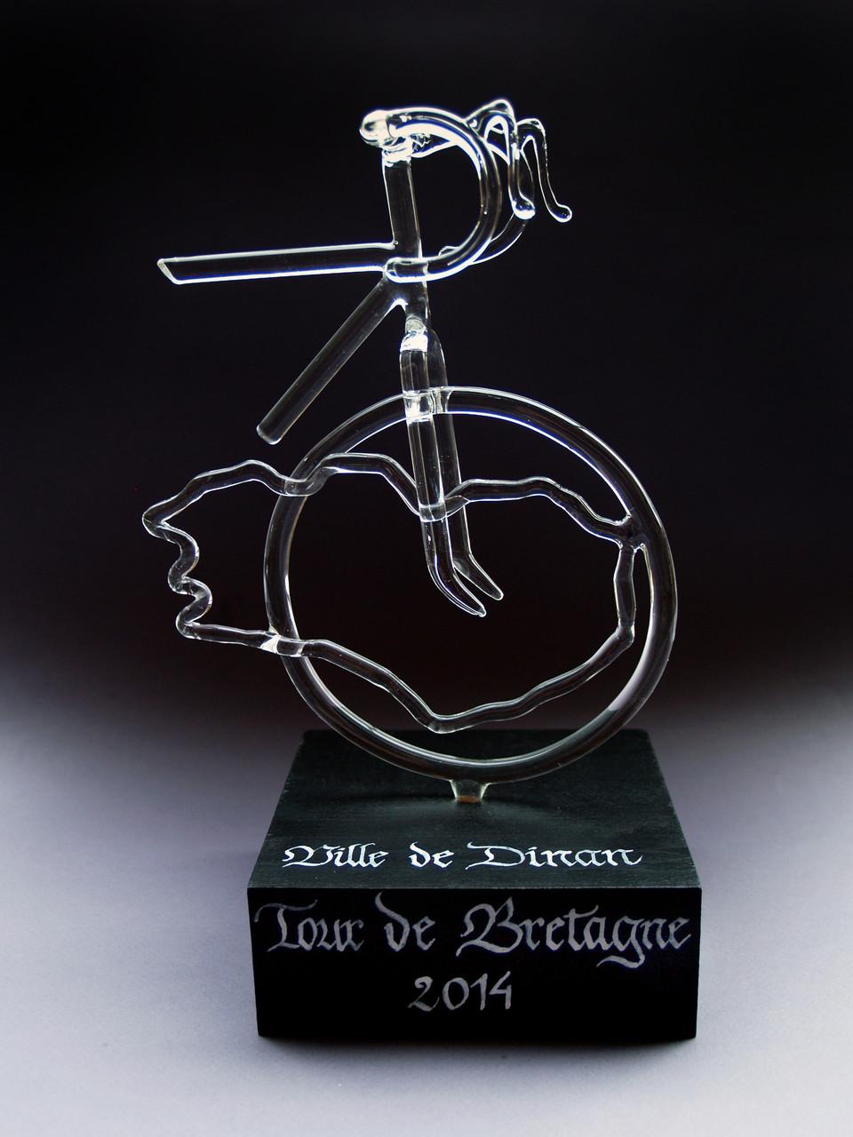 Trophée réalisé pour le tour de Bretagne cycliste