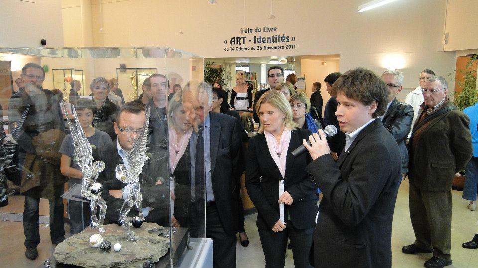 Présentation de ma pièce de Meilleur Ouvrier de France à l'occasion de l'exposition Art Identités à Béthune