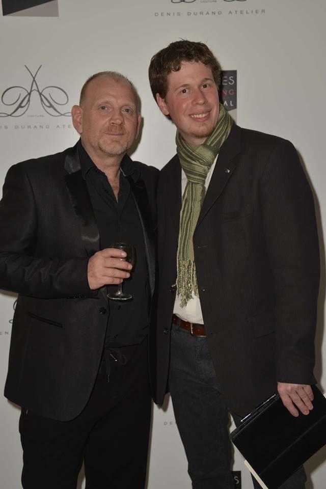 Avec Denis Durand créateur haute couture à l'occasion du Cannes shopping festival.