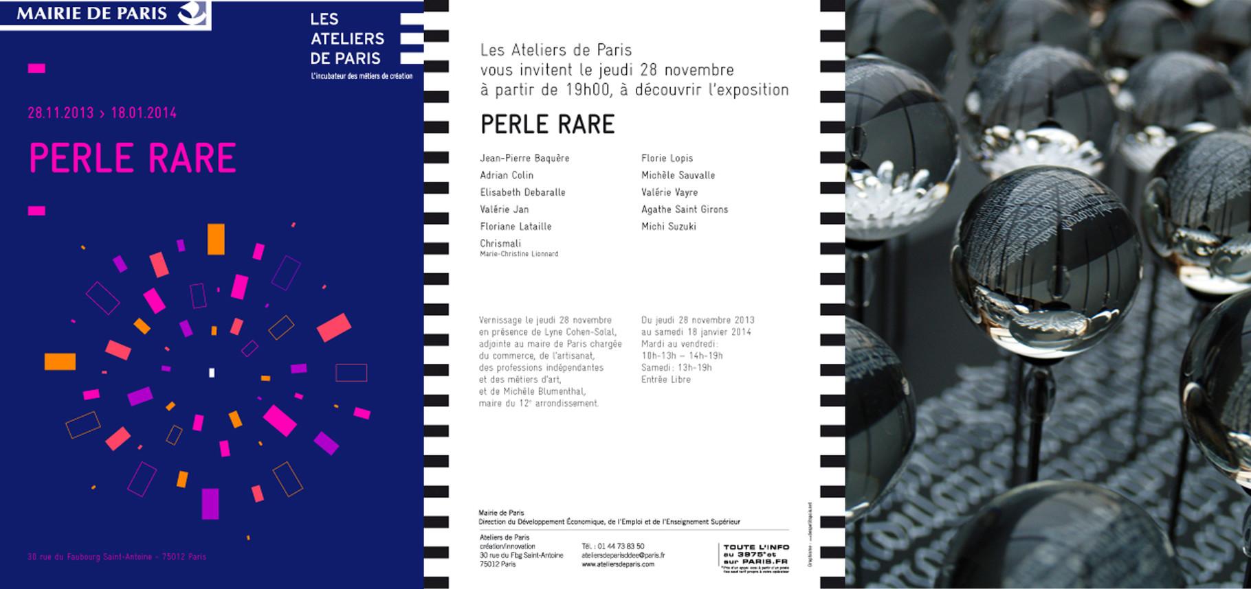 Exposition Perle Rare organisée par les Ateliers de Paris