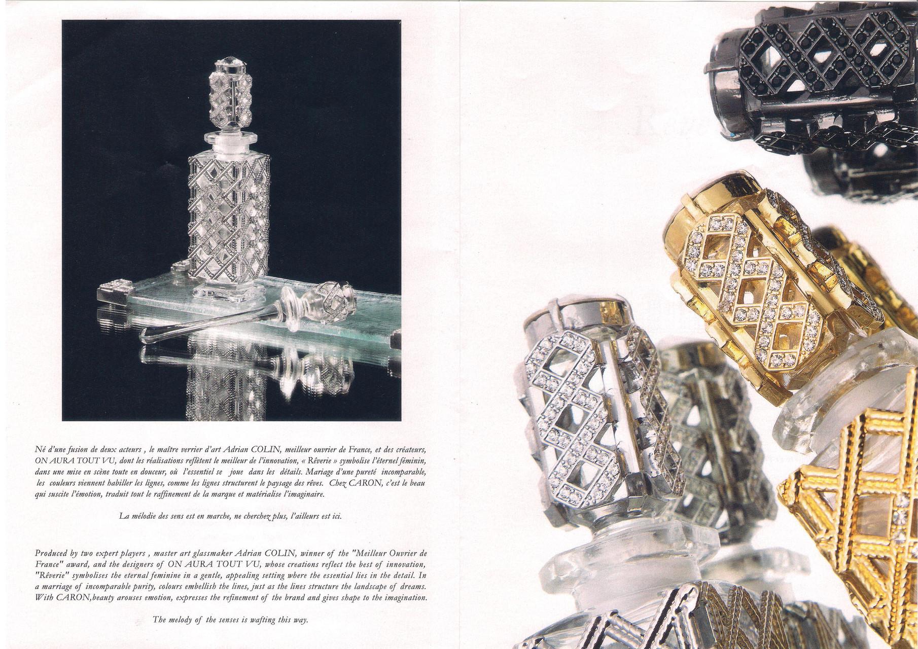 Eléments verre réalisés pour la société CARON