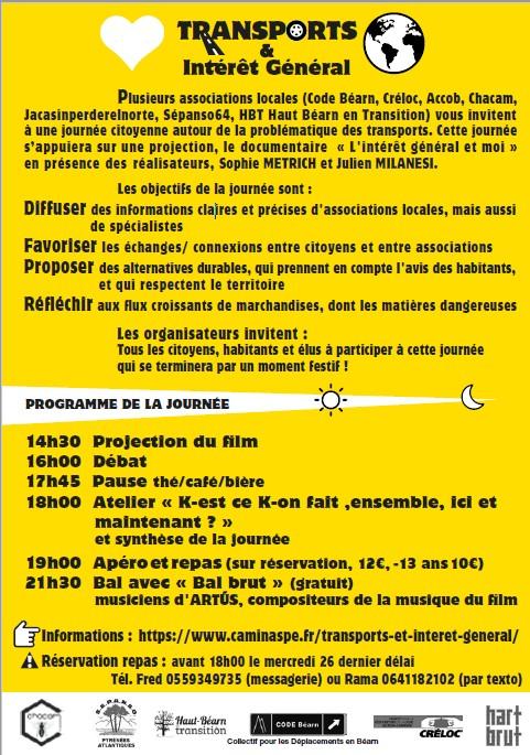 Organisation de la journée citoyenne du 29 septembre 2018 à Accous, contre les camions, pour l'intérêt Général avec l'ACCOB