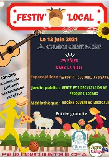 Festiv-O-Local avec les étudiants BTS du Lycée Agricole de Soeix d'Oloron et participation de L'ACCOB à Jéliotte qui a des infos à communiquer !