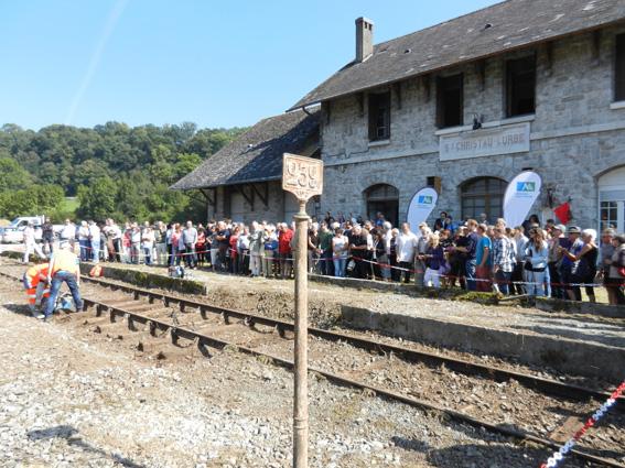 Photo CRELOC - Réouverture  juillet 2016 de la gare de Lurbe Saint Christau en Haut Béarn