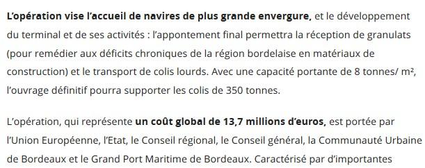 Déficit chronique de granulat en région Bordelaise, pas en Béarn .....