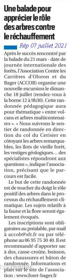 Sur la République des Pyrénées : Balade bois du Bager à Oloron organisée par l'ACCOB