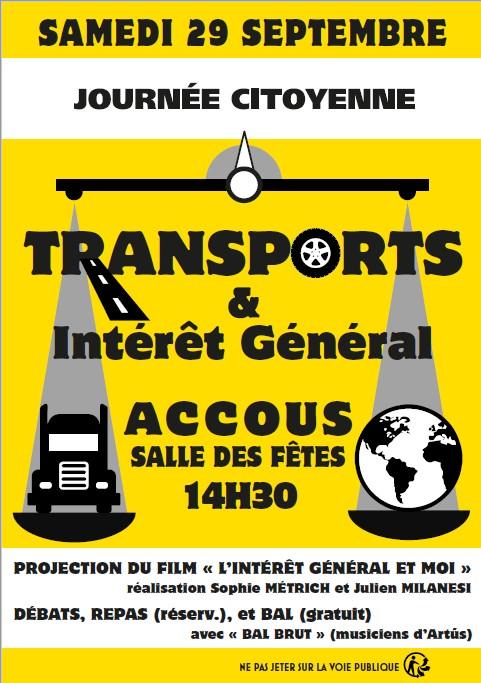 Transport et Intérêt Général à ACCOUS en vallée d'Aspe. Contre les produits transportés par camion sur la N 134-ACCOB