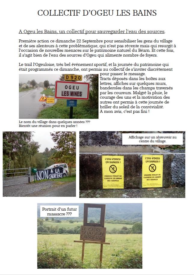 Une affiche réalisée par le collectif de défense à Ogeu les Bains.