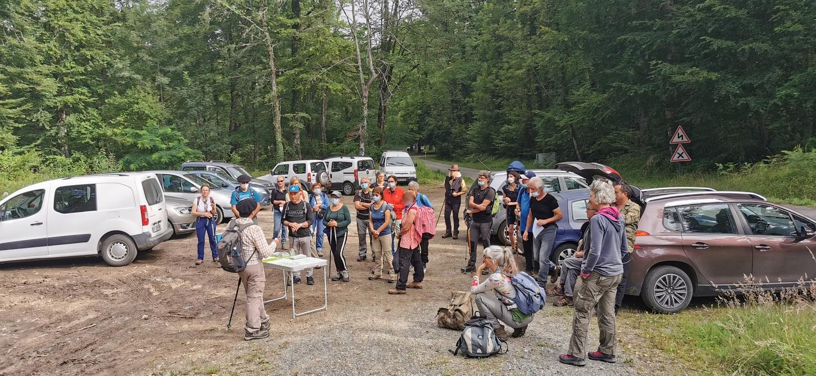 Explications, consignes avant le départ vers les Arbres remarquables en Forêt du Bager d'Oloron