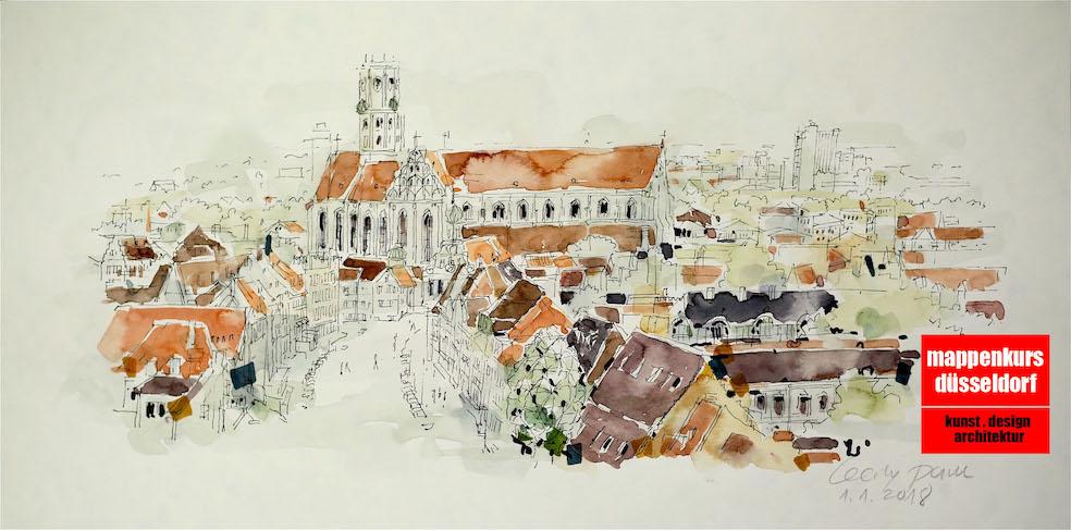 Mappenkurs Düsseldorf NRW, Architekturstudium, Kunst_& Designstudium, Bayern