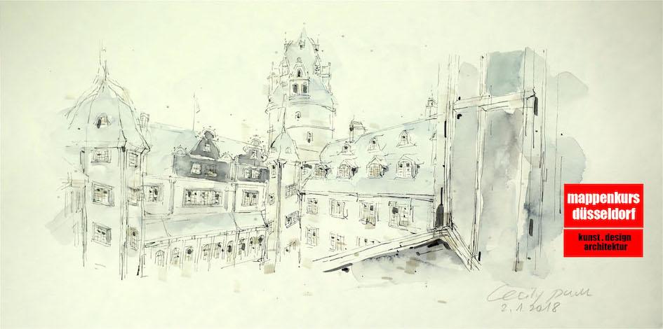 Mappenkurs Düsseldorf NRW, Architektur, Innenarchitekturstudium, Detmold