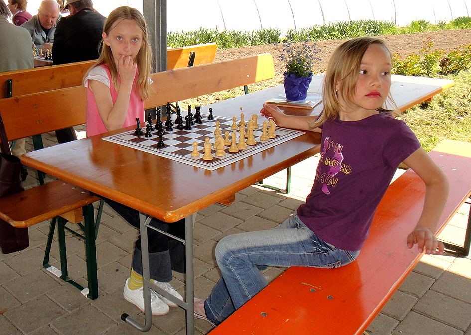 Photo Familien-Schach in der Gärtnerei Renner 2010