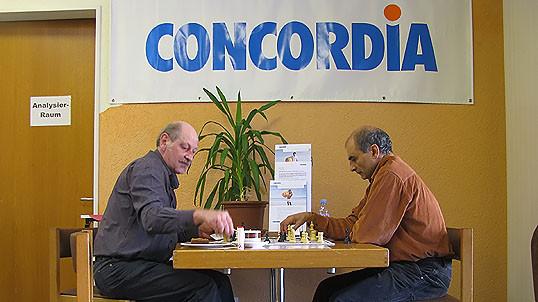 SF Pelikan Schach-Open 2010,  Beat Hartmann u. IM Ali Habibi
