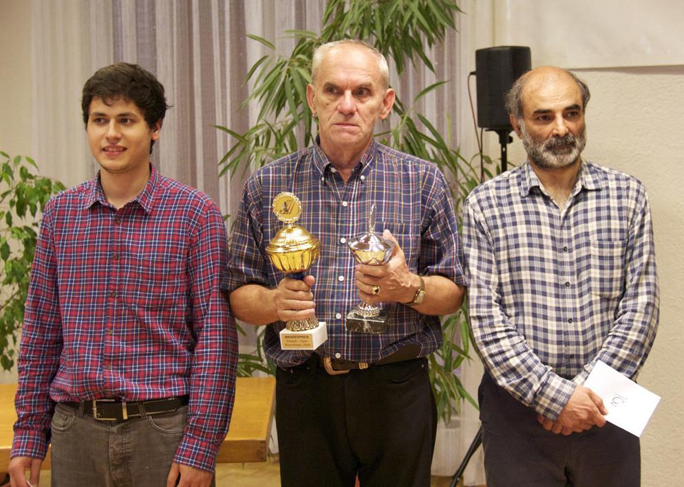 Rang 2 - Florian Schiendorfer, Rang 1 - V.Vulevic, Rang 3 - Ali Habibi