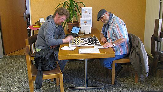 SF Pelikan Schach-Open 2010,  Hanspeter Schüpbach u. Kurt Baumann