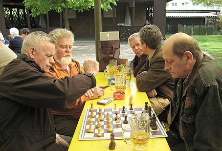 Photo Freizeit-Schach in der Gartenanlage Warmbach 2008
