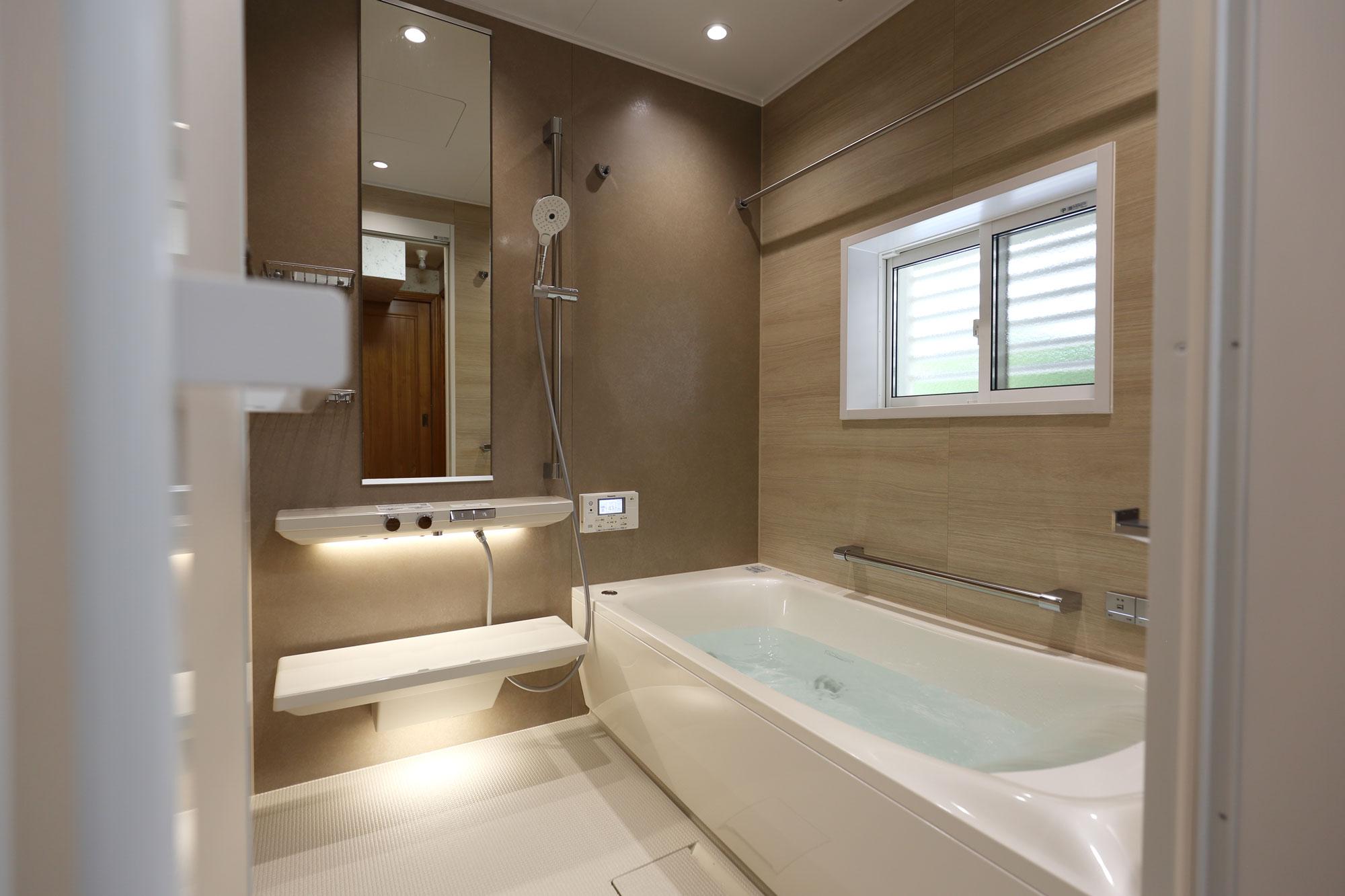 岡垣町 浴室洗面リフォーム 楽湯・床ワイパー洗浄