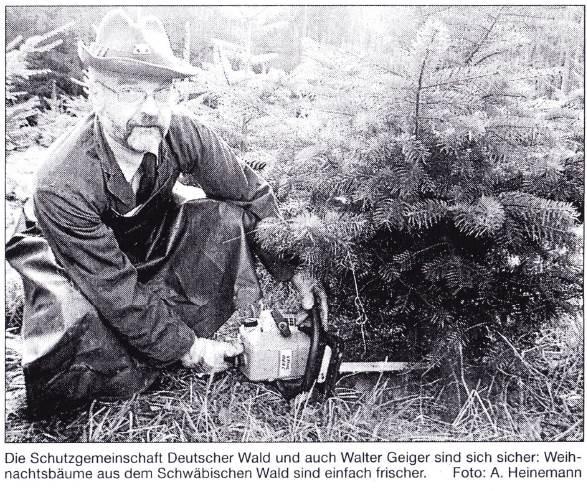 2000: Weihnachtsbaum-Pressetermin: FOAR Walter Geiger, Geschäftsführer der Forstbetriebsgemeinschaft Sulzbach