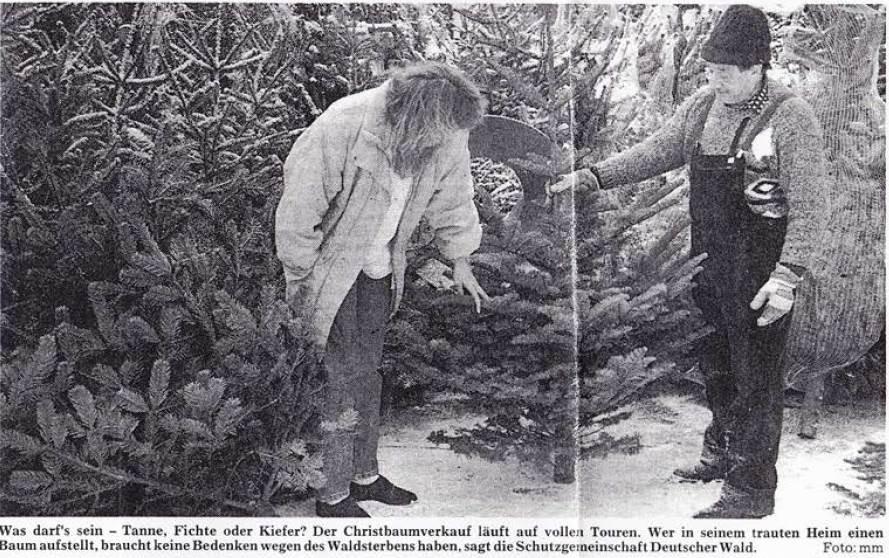 1995: Weihnachtsbaum-Pressetermin