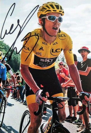 Cycling Autograph by Geraint Thomas