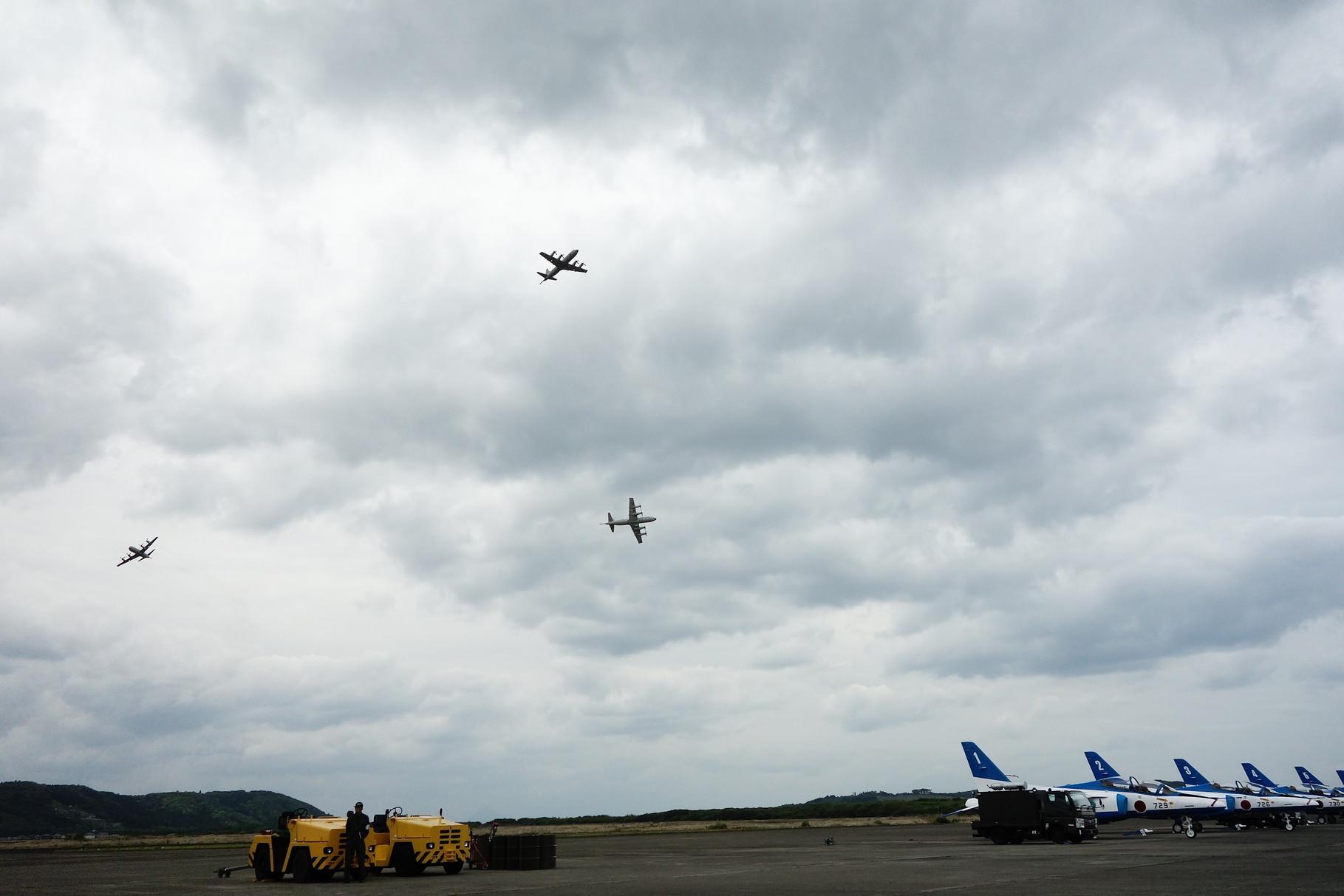 鹿屋基地 エアーメモリアル P-3C迫力の機動展示