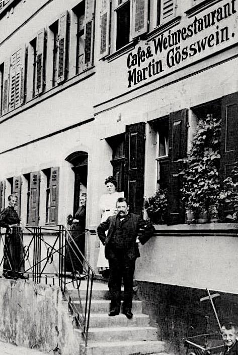 Cafe und Weinrestaurant Martin Gößwein, Am Fischerrain (heute Weinstube Hess)