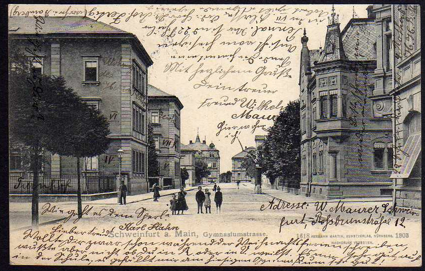 Gymnasiumstraße Anfang des 20. Jahrhunderts