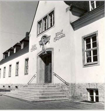 Hitlerjugendheim in der Wilhelmstraße, nach dem Krieg Gewerkschaftshaus, heute Moschee