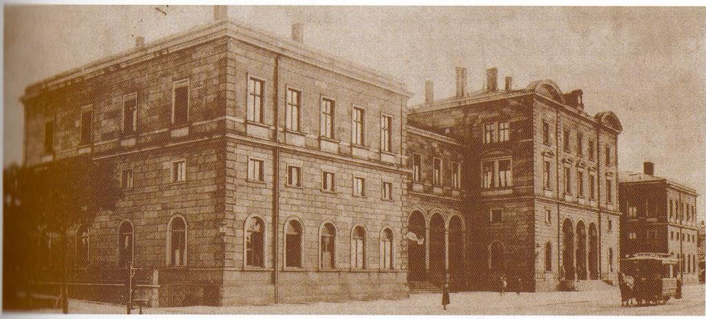 Hauptbahnhof mit Pferdebahn 1906