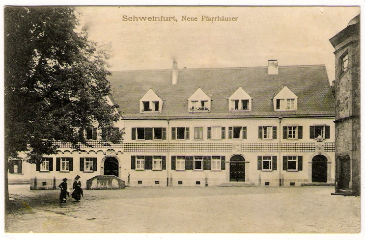 Pfarrhaus am Martin-Luther-Platz um 1914