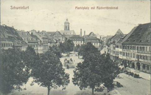 Blick vom Rathaus um 1914