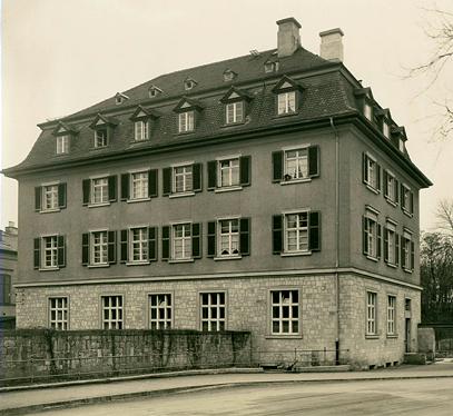 Rückseite der alten Reichsbank in den 1930ern
