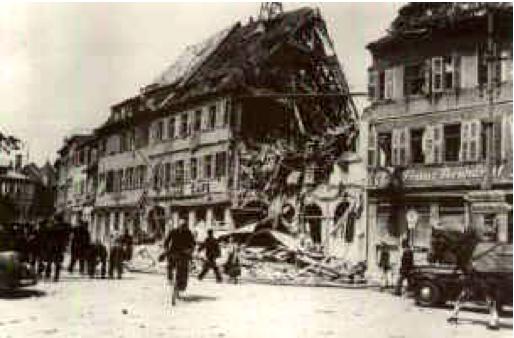 Der zerstörte Teil der Markwestseite