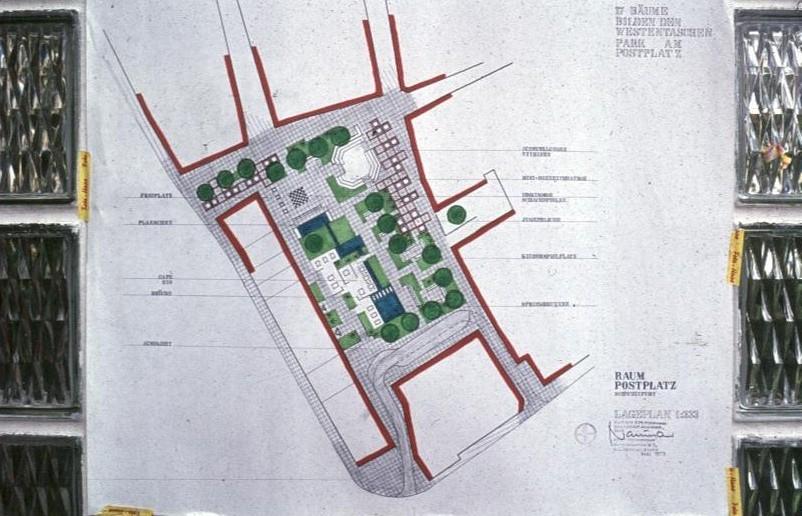 Der Vorschlag des Verfassers zur Umgestaltung des Postplatzes 1972