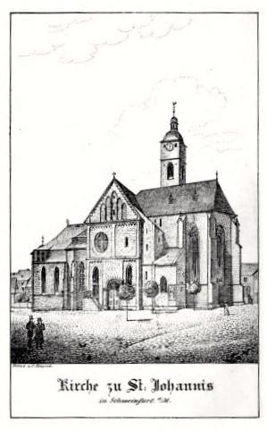 Schweinfurter Hauptkirche St. Johannis um 1790
