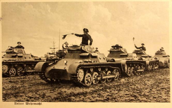 Übung im Feld - Panzer 1936 Pz.Rgt.4 Schweinfurt