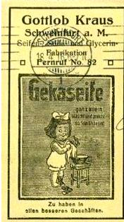 GEKA-Werbung auf einer Postkarte 1916