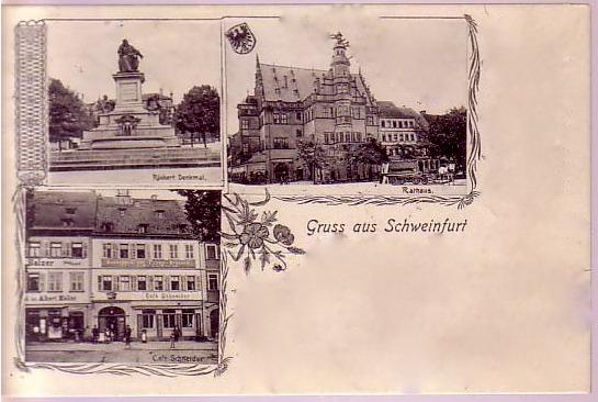 Bild links unten - rechtes Haus Cafe Schneider - ca. 1905