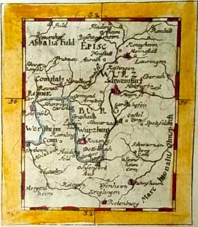 Karte von 1702