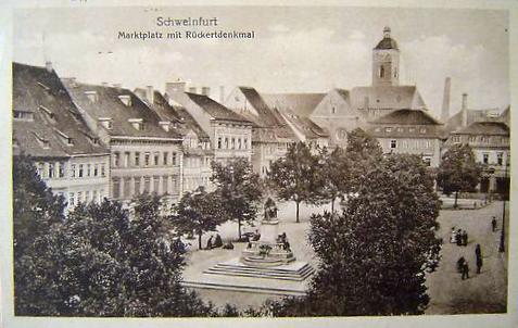 Der Marktplatz um 1926